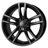 8.5x18 5/120 ET46 74.1 Alutec X10X Racing Black For OEM Cap (schwarz matt)
