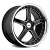 TSW Carthage 8,0x19 5/108 ET40 d-72 Gloss Black Mirror Lip Milled Spokes (1980CAR405108B72)